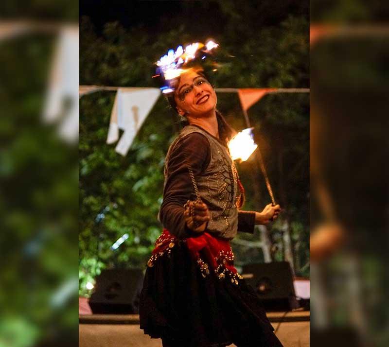 espectaculo con fuego en galicia